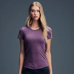 6750L - T-shirt en triple-mélange femme