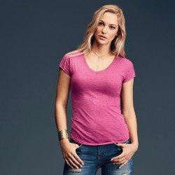 6750VL - T-shirt colV triple mélange femme Anvil