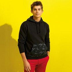 AQ047 - Sweatshirt à capuche homme à imprimé camouflage