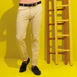 AQ052 - Pantalon chino homme slim