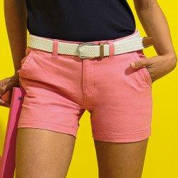 AQ061 - Short en coton coupe classique femme
