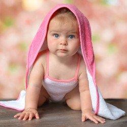 AR032 - Babiezz™ Serviette moyenne à capuche pour bébé