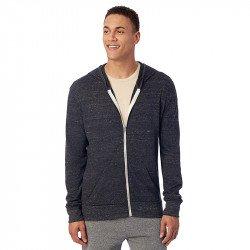 AA1970 - Sweat à capuche zippé en éco-jersey