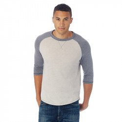 AA5057 - Tee-shirt dugout vintage 50/50 manches 3/4