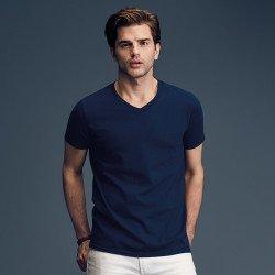 982 - T-shirt col V mode Anvil