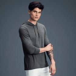 987 - T-shirt léger à capuche à manches longues Adulte Anvil