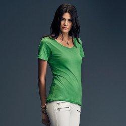 391 - T-shirt à encolure évasée Femme Anvil