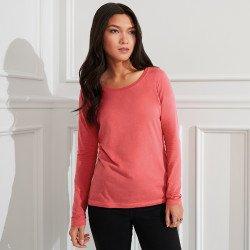 399 - T-shirt à encolure évasée à manches longues Femme Anvil