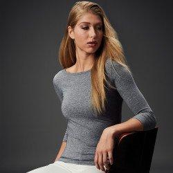 24555L - T-shirt Stretch Manches 3/4 Femme