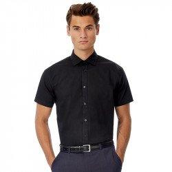 SMP22 - B&C Black Tie manches courtes /men