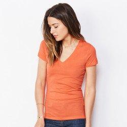 6035 - T-shirt col V profond en Jersey