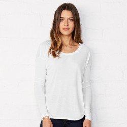 8852 - T-shirt à manches longues flowy en côte 2x1