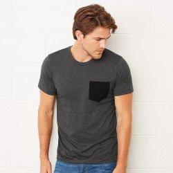 3021 - T-shirt en jersey à poche et manches courtes unisexe