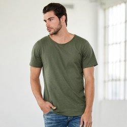 3014 - T-shirt en jersey à col à bord brut