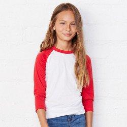 3200Y - T-shirt de baseball enfant à manches 3/4