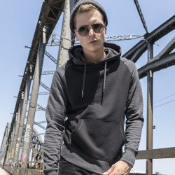 BY077 - Sweat à capuche manches raglan