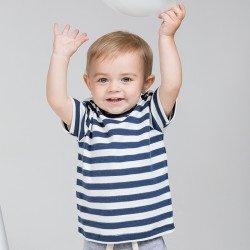 BZ02S - T-shirt bébé à rayures
