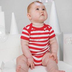 BZ10S - Grenouillère bébé à rayures