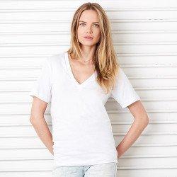 3105 - T-shirt col V profond unisexe en Jersey