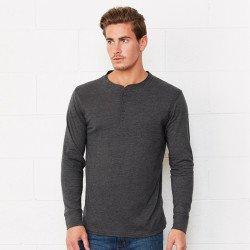 3150 - T-shirt manches longues unisexe Henley en jersey