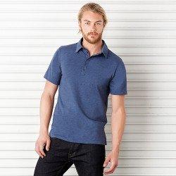 3802 - Polo à 5 boutons en jersey unisexe