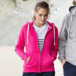 FR801 - Sweat-shirt à capuche zippé Femme