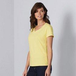 4100VL - T-shirt colV en coton de première qualité Femme