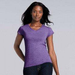 64V00L - T-shirt col V Softstyle® Femme