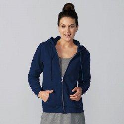 18600L - Sweatshirt capuche femme zippé Heavy Blend™