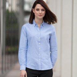HB513 - Chemise Oxford moderne à manches longues femme