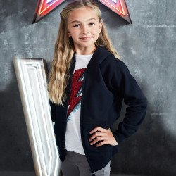 JH50J - Sweat-shirt zippé à capuche pour enfant