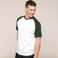 KB330 - Base ball T-shirt bicolore manches courtes