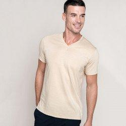 KB357 - T-shirt col V manches courtes