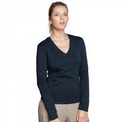 KB358 - T-shirt col V manches longues