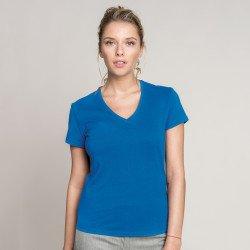 KB381 - T-shirt col V manches courtes femme