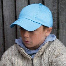 RC18J - Casquette junior en coton de profil bas