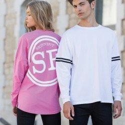 SF514 - T-shirt unisexe à épaules tombantes