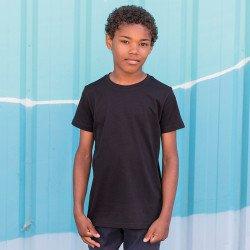 SM258 - T-shirt long Enfant avec dos plongeant