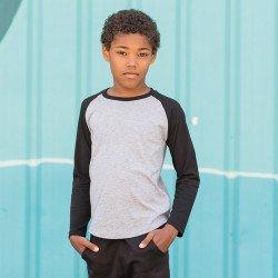 SM271 - T-shirt de baseball à manches longues pour enfant