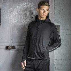 TL550 - Sweat-shirt à capuche de course léger avec bande réfléchissante