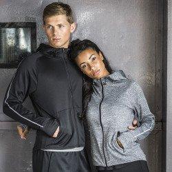 TL551 - Sweat-shirt à capuche de course léger avec bande réfléchissante femme