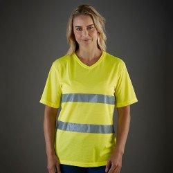 HVJ910 - T-shirt haute visibilité très léger avec col en V (HVJ910)
