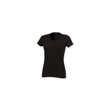 SK122 - T-shirt Stretch col V Feel Good Femme