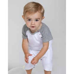 BZ41 - Baby Baseball Playsuit