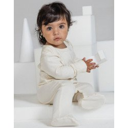 BZ35 - Organic Sleepsuit with Scratch Mitts