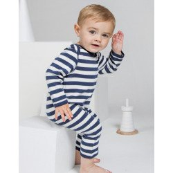 BZ13S - Baby Striped Rompasuit