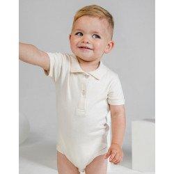 BZ27 - Baby Organic Polo Bodysuit