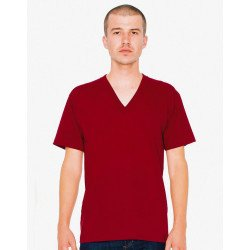 2456W - Unisex Fine Jersey V-Neck T-Shirt