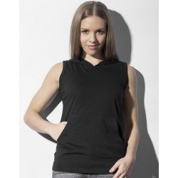 TF-SL-H-TB142 - Cecilia Womens Sleeveless Hooded T-Shirt