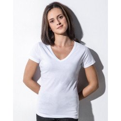 TF-SSL-V-OG118 - Penny Womens Organic V-Neck T-Shirt